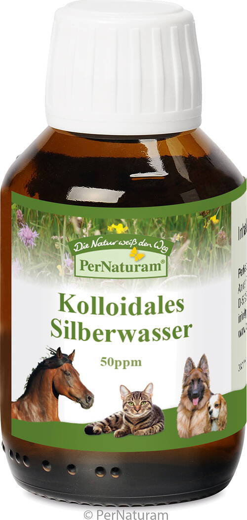 Kolloidales Silberwasser 50 ppm 100 ml - PerNaturam Shop