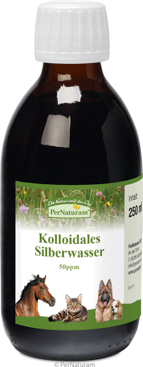 Kolloidales Silberwasser 50 ppm 250 ml - PerNaturam Shop